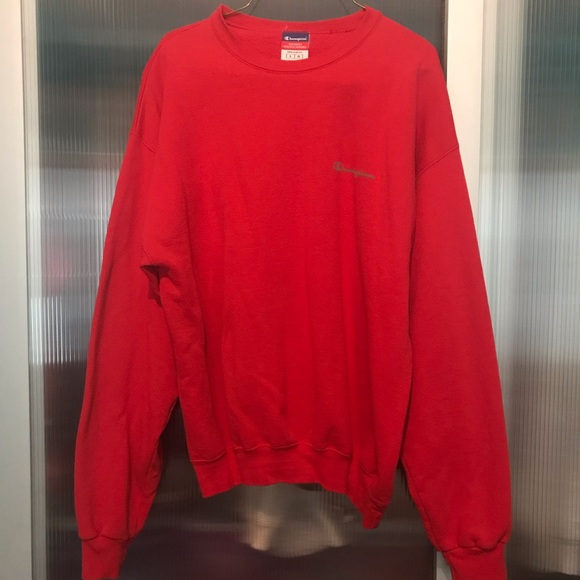Vintage Red Champion Crewneck Sweater